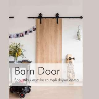 BARN DOOR SET ZA DRVENA VRATA 69007