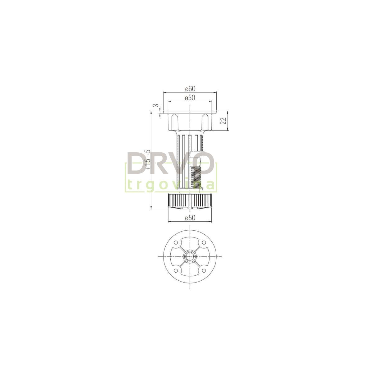 NOGA 100mm PVC 103335785 S