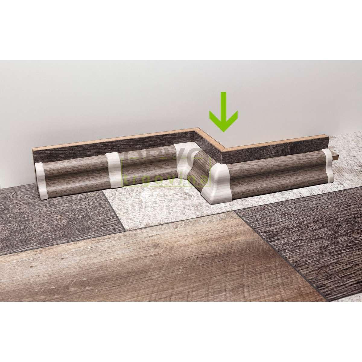 PVC KUT VANJSKI ZA LETVICU  P27 HRAST(DAB-10)