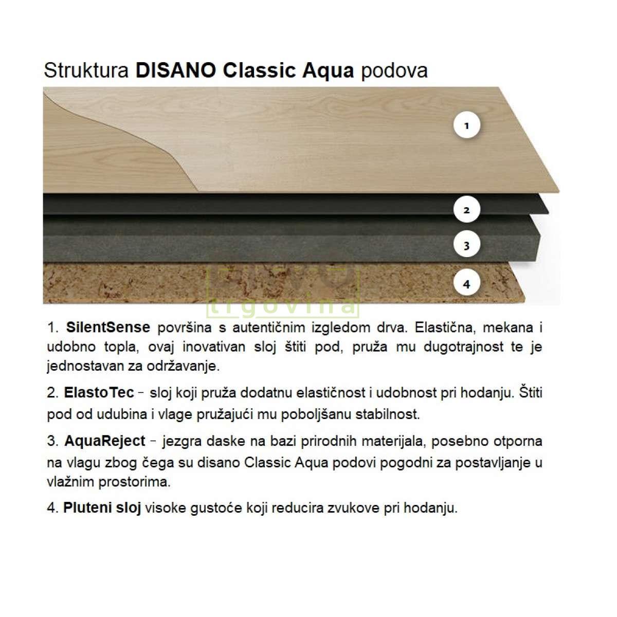 LAMINAT HARO  9,3mm/Kl.33 DISANO CLASSIC AQUA 535 700 WILD OAK p=2,39